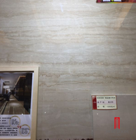 beige travertine wooden effect finish polished flooring marble look line stone