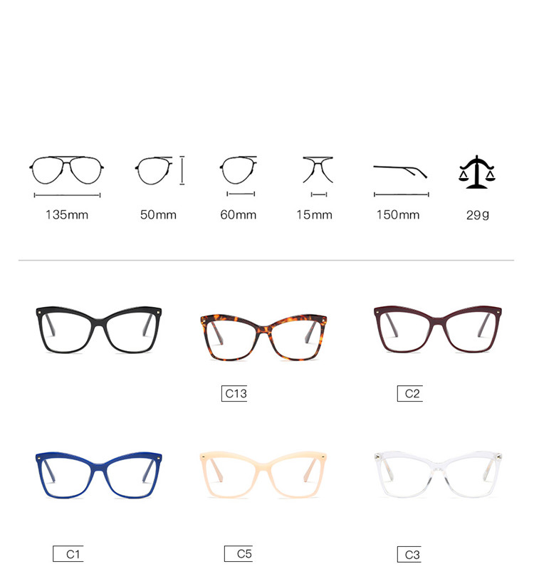 Latest Hot Selling Eyewear Cat eye wholesale new model optical frame