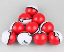 2018 Wholesale Cheap Pokemon Ball Colorful Kids Toy PU Pokeball Stress Ball
