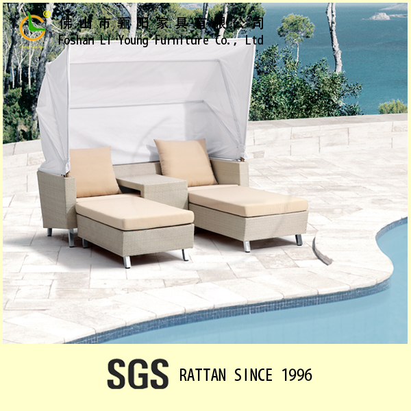 patio pool balcony wicker used outdoor rattan chaise