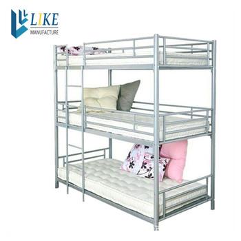 most popular latest design adult metal 3 sleeper bunk bed