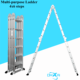 14 in 1 multi usage aluminium 4 sheet a shape multipurpose aluminum folding rung ladder 4x6 24 steps 7m size