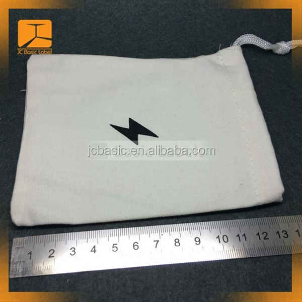 Factory Price Wholesale Fashion Style New jewelry cotton pouch & Small Cotton Drawstring Bag