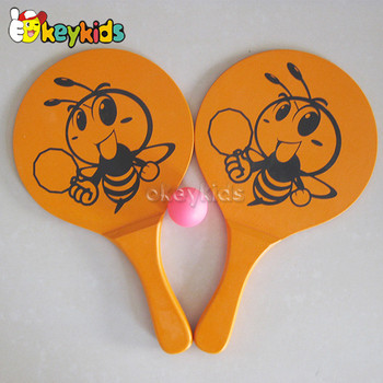 High quality wooden beach racket with OEM W01A094