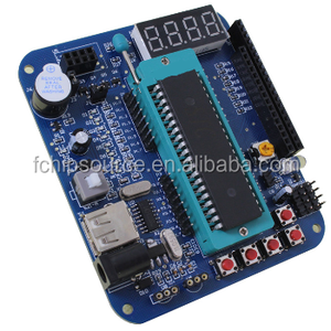 single chip computer development learning experiment board DIY minimum system board with LCD