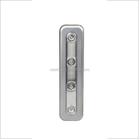Batteries Powered Rectangle shaped 4 Led Push Night Lights With Stick On for Kitchen corridor cabinet