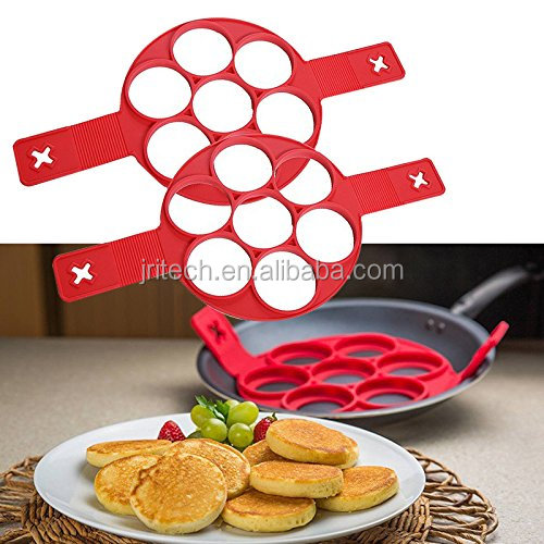 Nonstick Silicone Pancake Ring Fried Egg Mold,Easy To Operate Cooking Egg Tools