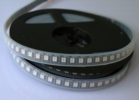 addressable 3m 96LEDs/m DC5V SK6812 led pixel strip,waterproof in silicon tube;IP66,with 96pixels/M;BLACK PCB;RGB full color