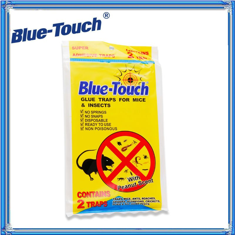 Blue-Touch Baited Rats, Mouse and Snakes Glue Trap, Just Like Catchmaster ~~ Trampas De Goma Pre Cebades Para Ratones (mice)