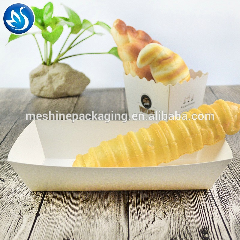 Wholesale custom printed disposable kraft paper food tray