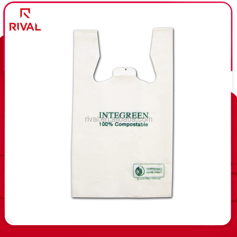 Most Popular best Sell Simple style printed hdpe biodegradable vest tshirt bag wholesale