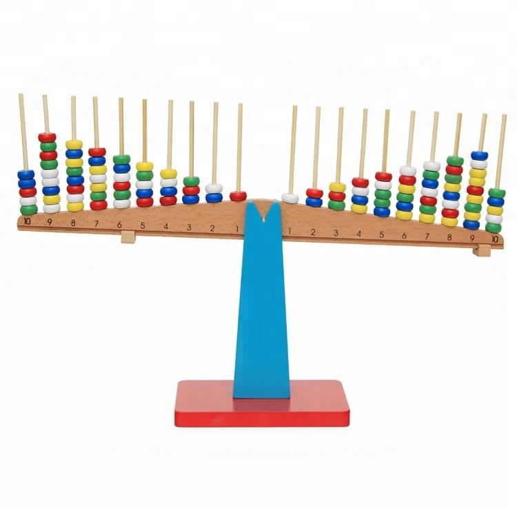 Montessori Mathematics Number /& Balance Kids Learning Math Educational Tools