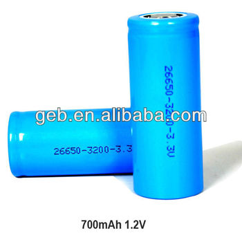 ICR 26650 3.2V 3200mAh cylindrical rechargeable battery