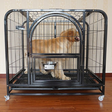 black color large steel big dog puppy garden cage blue welded dog kennel