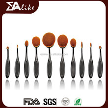 Popular private 10pcs toothbrush makeup brush set use