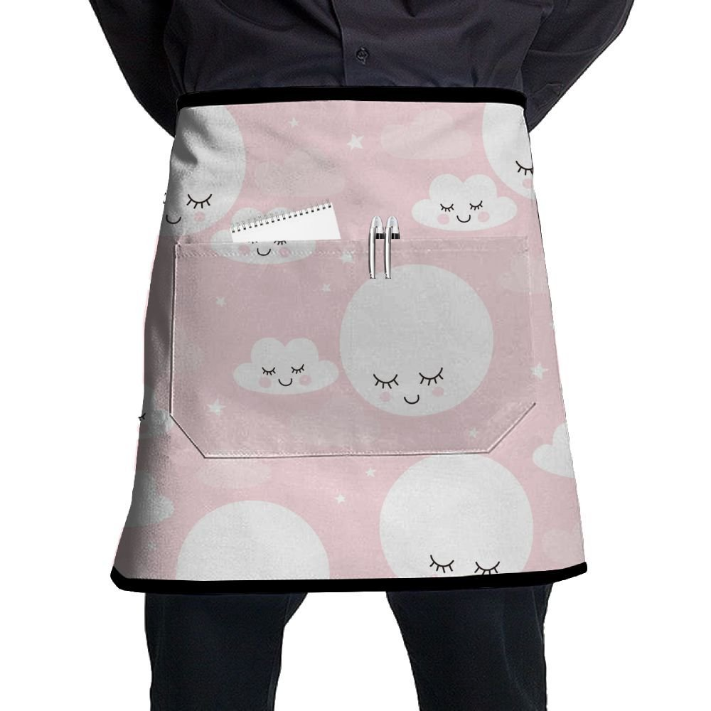 Apron, Cooking Artist Aprons With Pocket, Sexy Aprons For Chef, Kitchen Accessories, Kawaii Clouds Stars