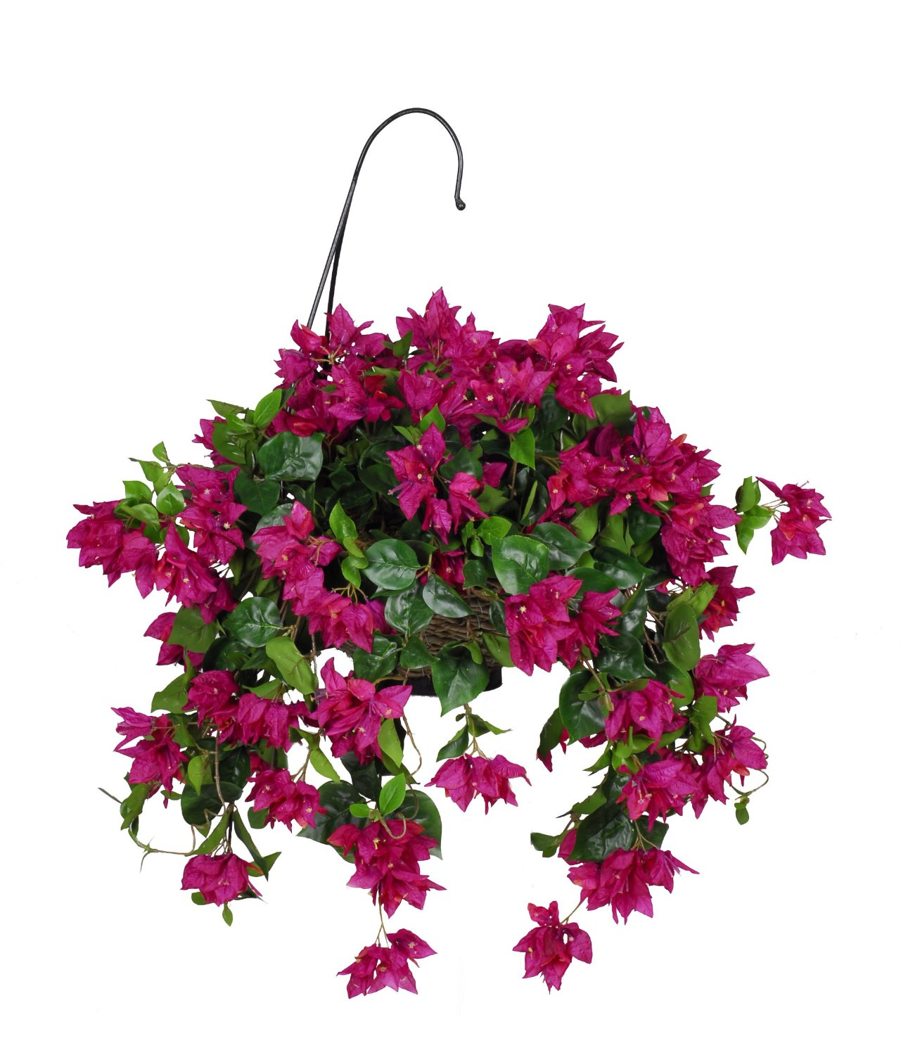 Buy house of silk flowers artificial bougainvillea hanging basket house of silk flowers artificial bougainvillea hanging basket violetfuchsia mightylinksfo