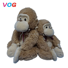 Factory price lifelike plush monkey toys custom made stuffed animals monkey for kids gifts