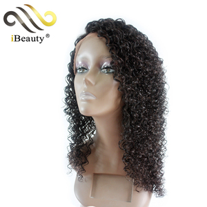 Wholesale alibaba new products human hair wig, deep lacefront kinky curly human hair wig