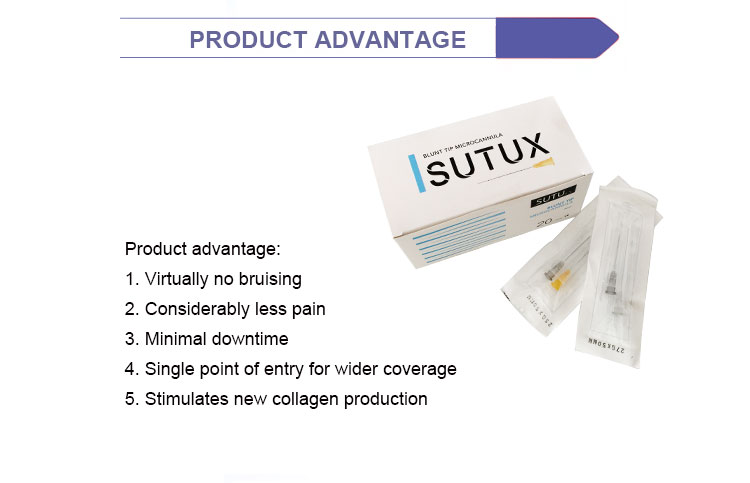 Competitive price barbed suture 25g micro cannula