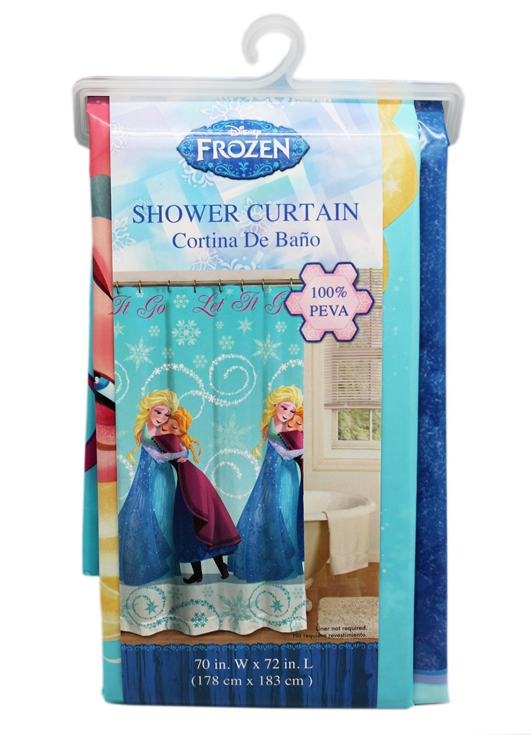 Get Quotations Disneys Frozen Anna Hugging Elsa Shower Curtain Rings Not Included