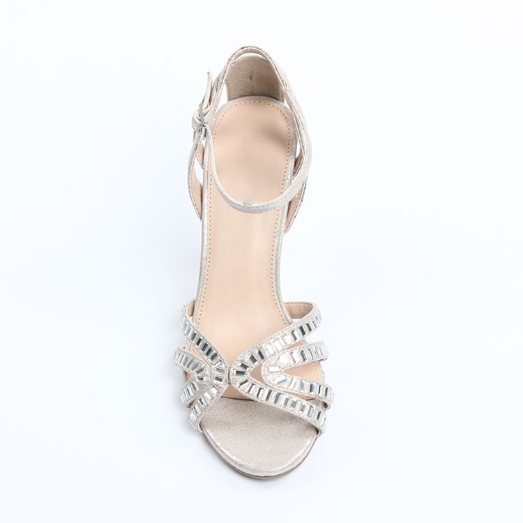 Perfect 2015 Womens Fashion Elegant Silver Dress Sandals Silver Sandals For Wedding  Silver Strappy Sandals