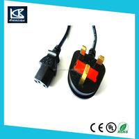 2 pin British standard ac power cord 3 pin uk standard power Extension Cords Monitor Power Supply