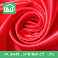 100% polyester polyester satin fabric for wedding draping fabric and evening gown fabric