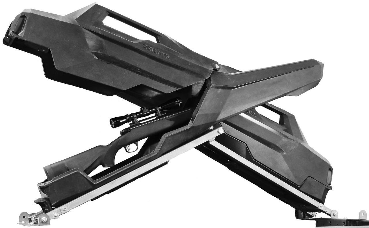 New Seizmik X-Rack Gun Storage System / Gun Case - 2016-2017 Can-Am Defender MAX HD8 XT UTV