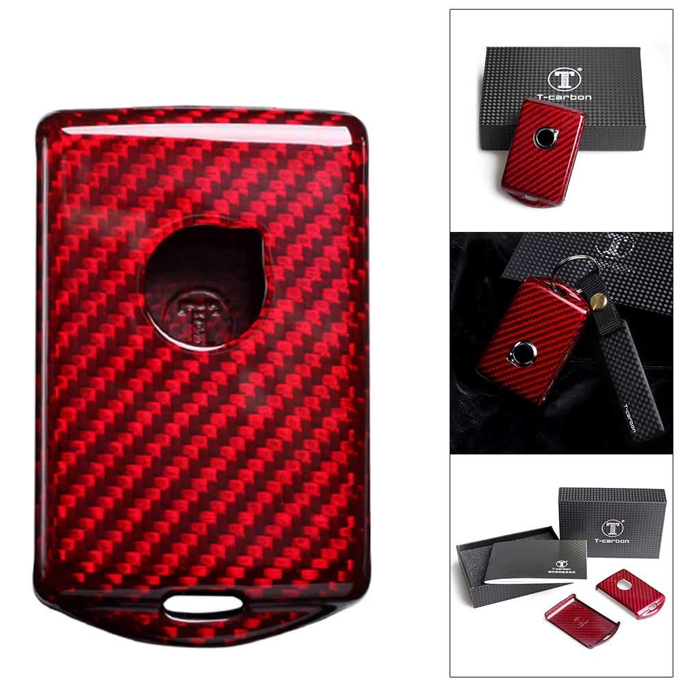 Timmart Real Carbon Fiber Key Fob Protective Cover Case For CX60 CX90 CX40 S90 V90