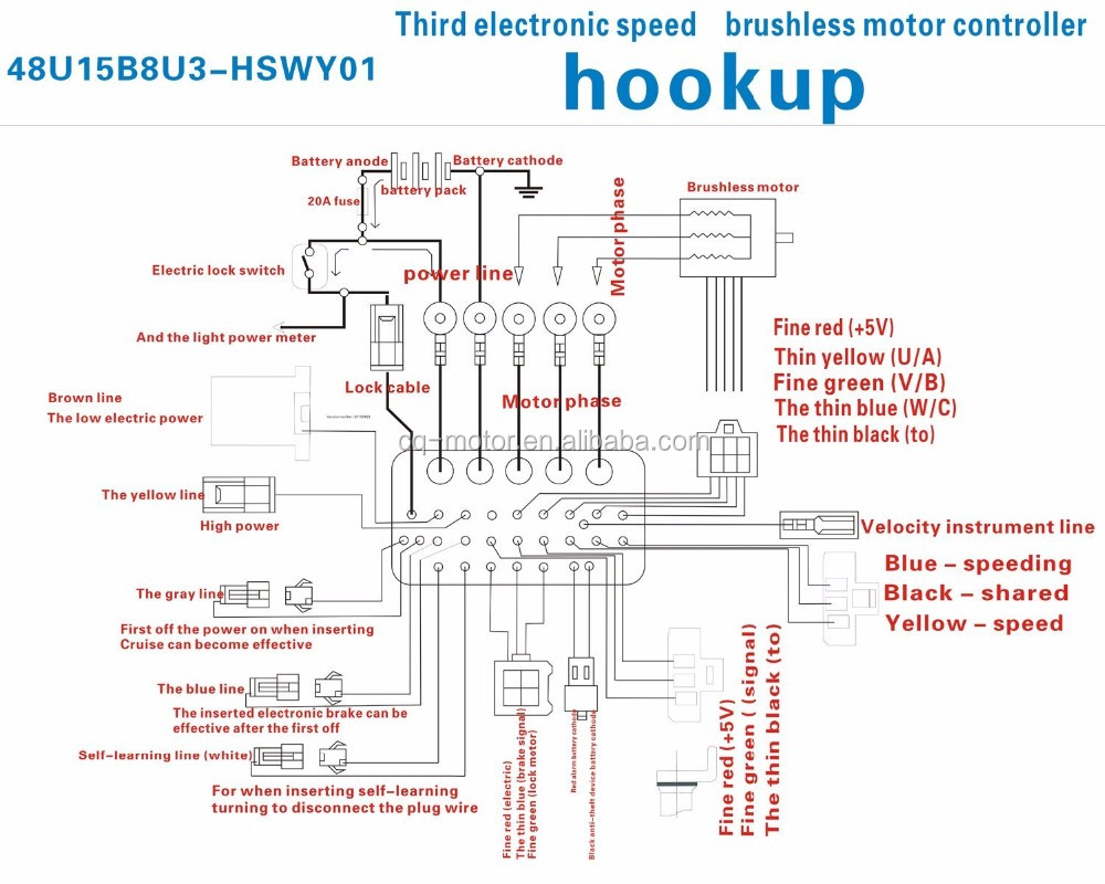 E Bike Motor Wiring Diagram Brushless Controller Nice Electric Crest Electrical And