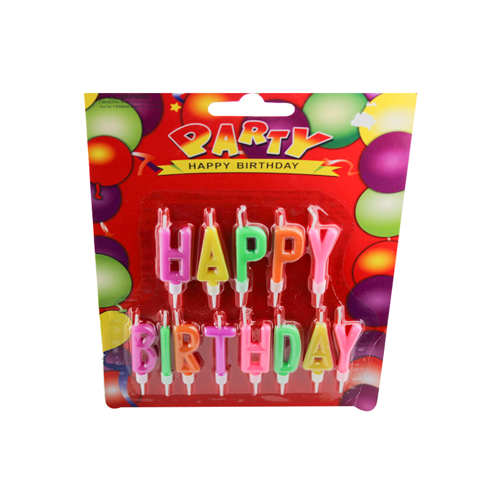 hot sale colorful fancy birthday cake letter alphabet candle