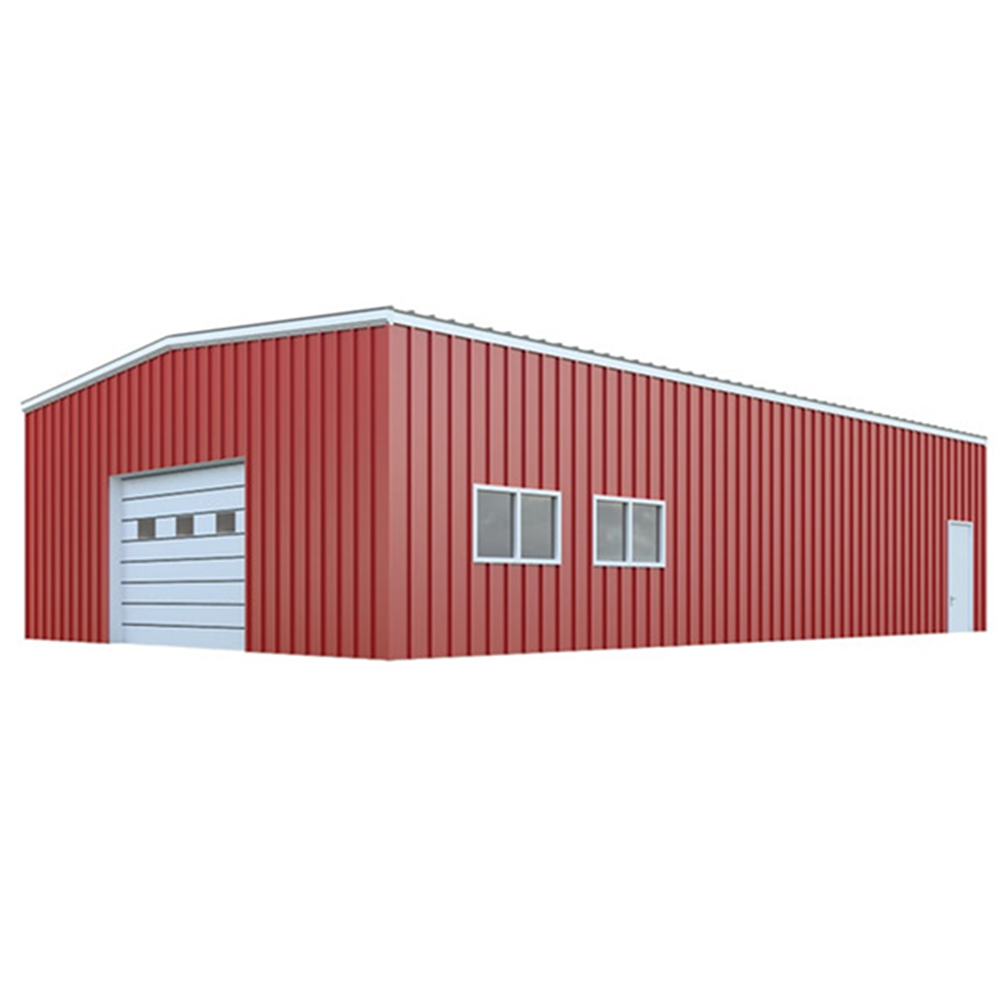 Low cost prefabricated steel structure storage shed