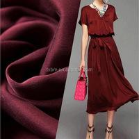 fashion custom chinese printed 100% pure silk fabric/100% silk crepe de chine fabric