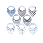 Baby Bandana Drool Bibs (4-Pack) Absorbent Organic Cotton Bibs,Colorful Unisex Designs, Ultra Soft & Adjustable