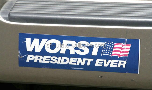 Custom political funny bumper stickers for cars