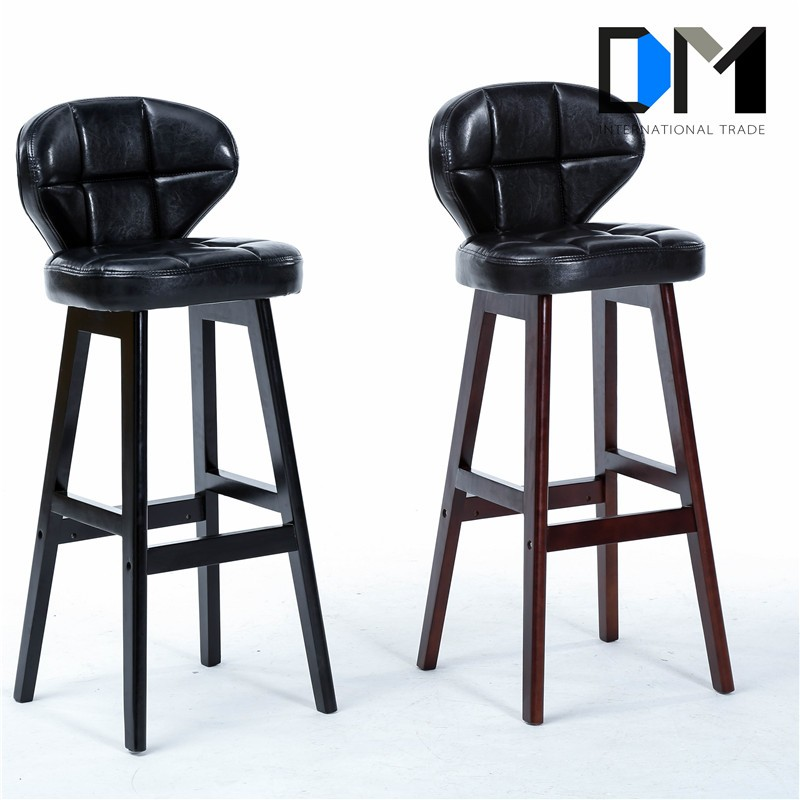 Awe Inspiring Wooden High Back Bar Stool Retro Leather Bar Stool Kitchen Chair Buy Wooden Bar Stool Bar Stool High Back Bar Stool Product On Alibaba Com Andrewgaddart Wooden Chair Designs For Living Room Andrewgaddartcom