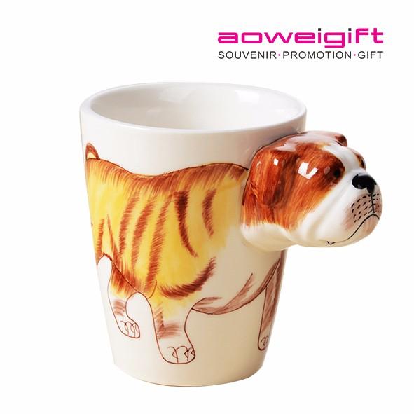 Brown ombre à miel en Forme 3D Thé Tasse À Café Animal Nouveauté Cuisine Décoration Ornement