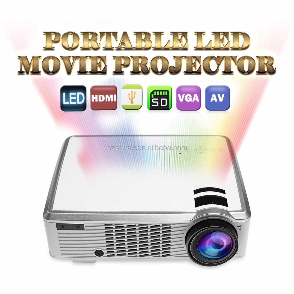 portable led projector LED33-02 LCD Home Theater Projector FWVGA (854x480) 2000 Lumens LED 4:3/16:9 home projector