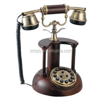 Antique Classic Phone Home Decorative Telephone Wooden Retro Phone - Buy  Wooden Retro Phone,Home Decorative Telephone,Antique Classic Phone Product  on