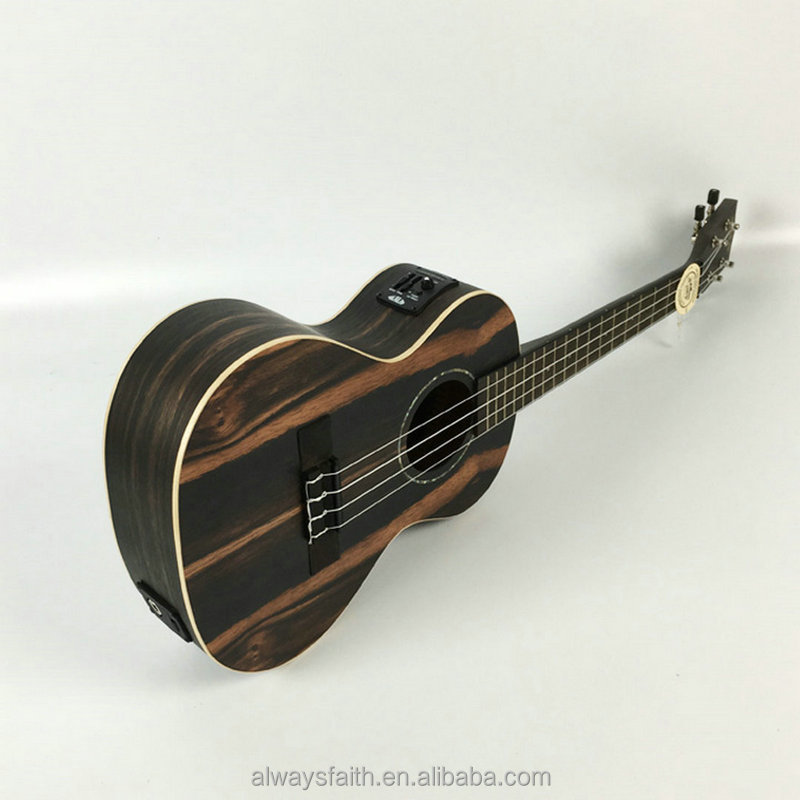 Musical Instruments High Quality Cheap Price Ebony Ukulele With EQ