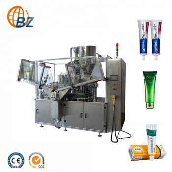Automatic Glue Soft Hand Cosmetic Small Aluminum Cream Plastic Toothpaste Tube Filling And Sealing Machine