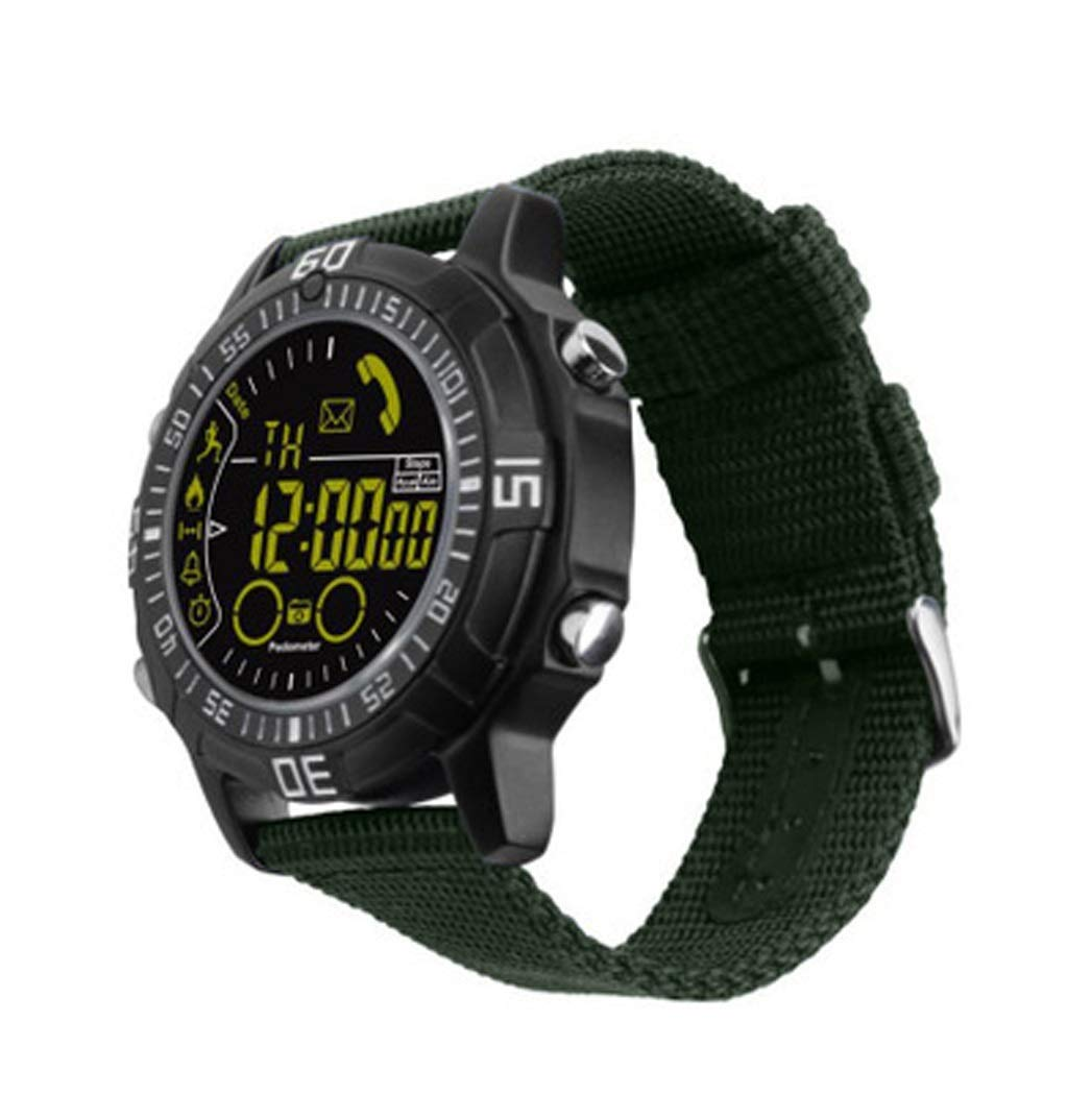 YWY Smart Watch Outdoor Sports Metal Shell Sports Watch Phone Information Reminder Pedometer Waterproof Smart Bracelet for Android (Color : Green)