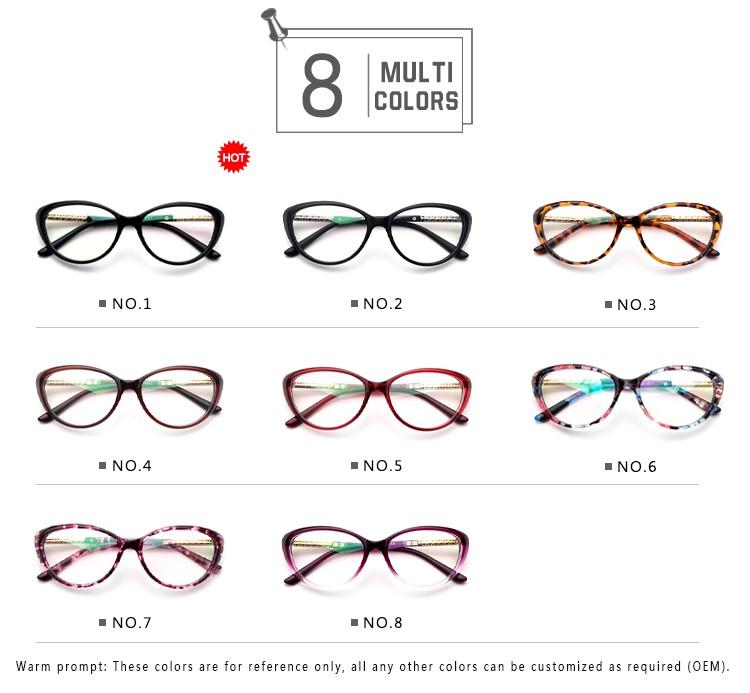 fe2932f921 New Brand Women Coating Optical Glasses Frame Cat Eye Eyeglasses Computer Glasses  Nerd Oculos Custom Logo