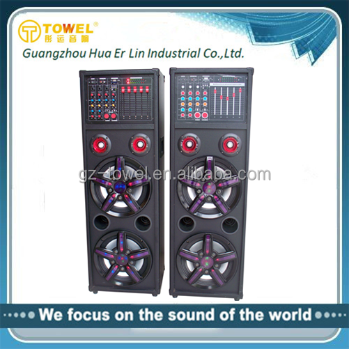 Guangzhou wood finish audio speakers guangdong stage loudspeaker dj home theatre power mixer amplifier speaker