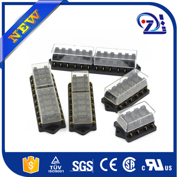12V/24V 6 WAY STANDARD BLADE FUSE BOX HOLDER WITH LED FAILURE WARNING LIGHTS