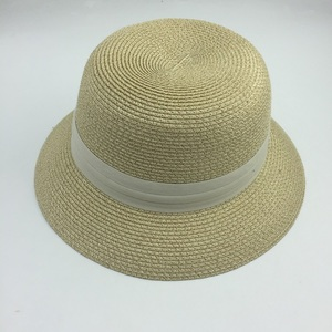 women fashionable summer bucket hat sun beach paper straw hat for ladies