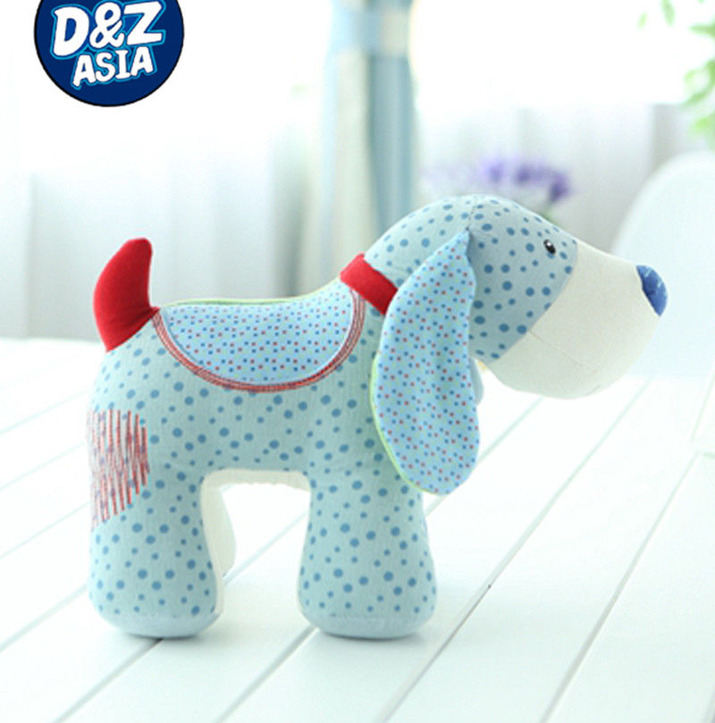 Color cloth quilts dog with soft touch for baby toys