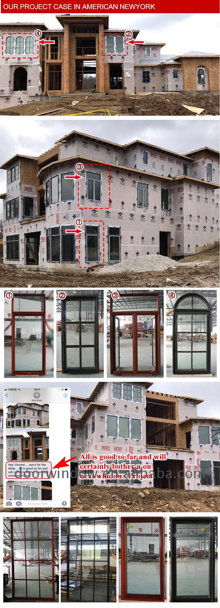 Factory price newest wood clad windows aluminum window casement