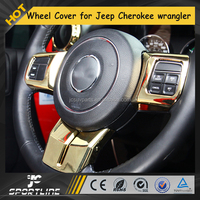 Chrome Steering Wheel Cover for Jeep Grand Cherokee Wrangler 14-16 LHD